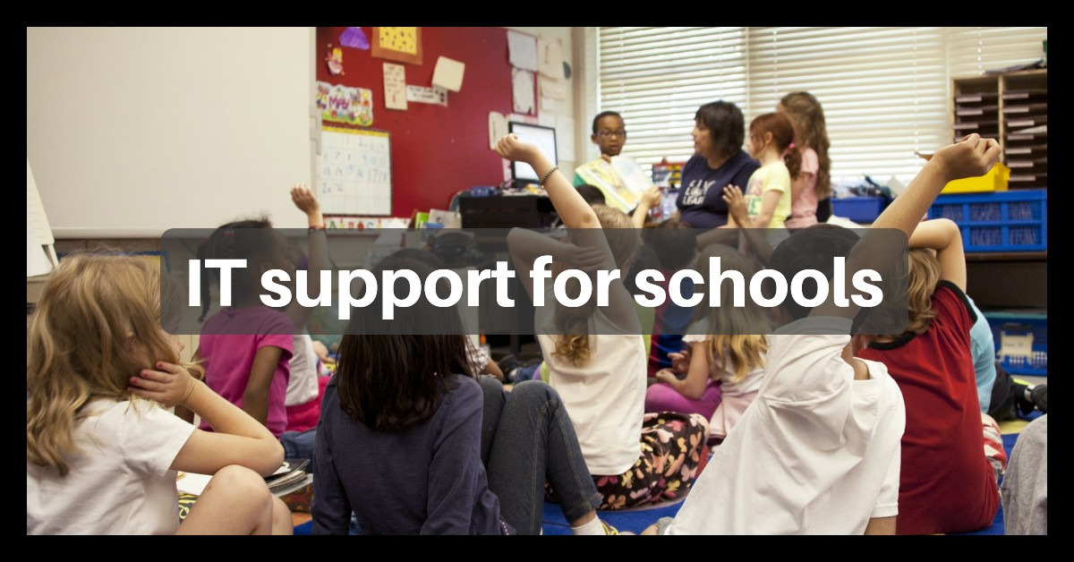 Title image for IT Schools article about hiring a good IT Support Company for a school.